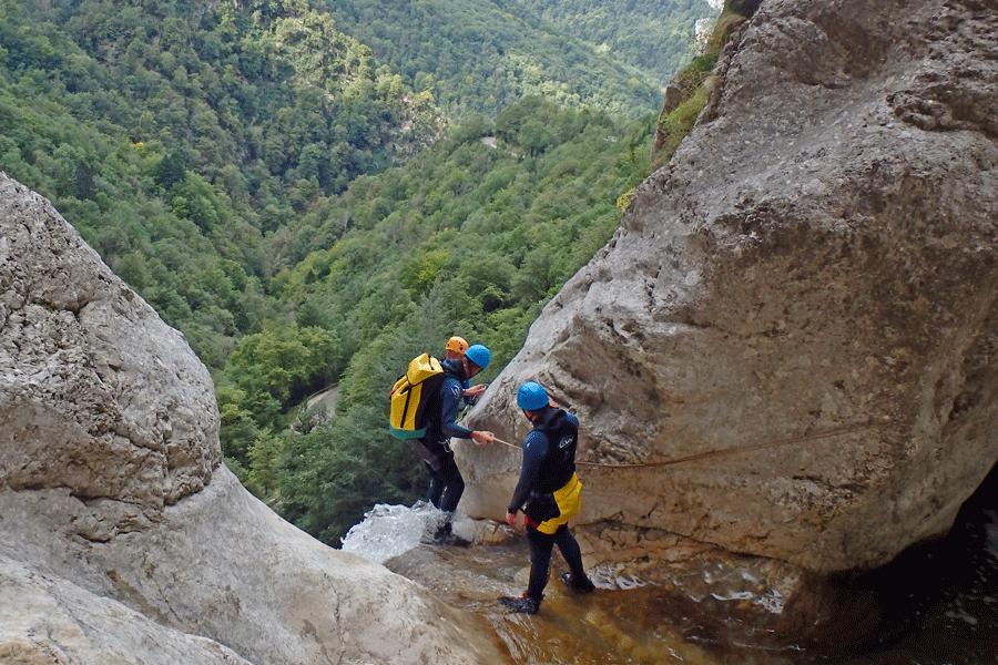 Stage Canyon dans le Vercors (Isère)