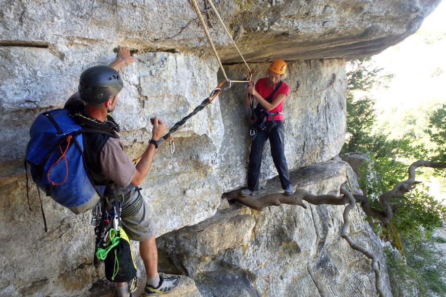 Via corda d'Endieux (Ardèche)